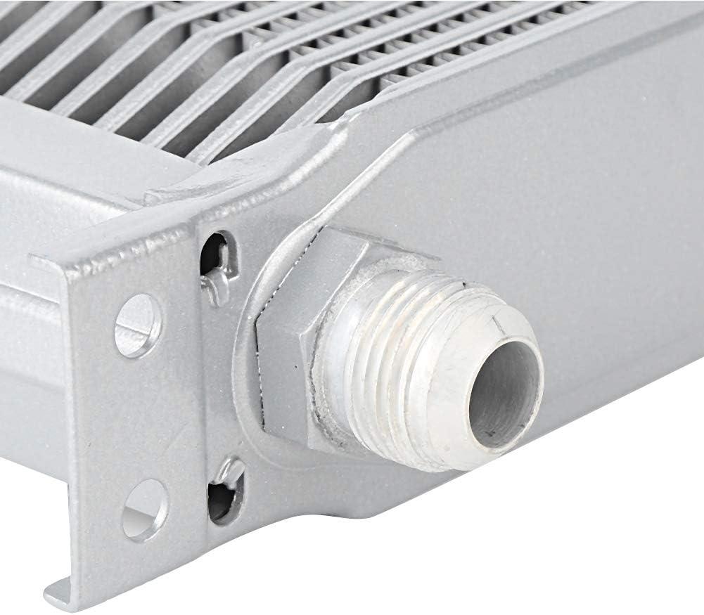 Refroidisseur dhuile Suuonee pi/èces de rechange modifi/ées par radiateur automatique en aluminium de rang/ées de radiateur dhuile de moteur de 13 rang/ées universelles