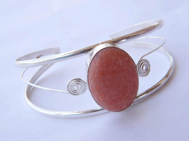 Amazing Sunstone Cuff Bangel Bracelets Silver Plated Handemade Jewellery