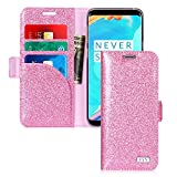 FYY Case for Samsung Galaxy S8+ Plus, [RFID Blocking wallet] [Premium PU Leather] Handmade Wallet Case Credit Card Protector for Samsung Galaxy S8 Plus Pink