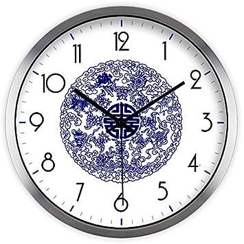 Moju super silencioso muro relojes marcando no barrido tranquila relojes decorativos para el Salón Dormitorio Comedor Office , cuadro de dibujo de alambre ...