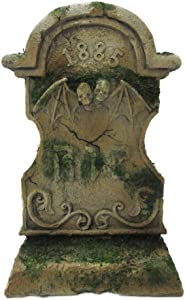 Pacific Giftware 1885 Skull Head Bat Tombstone R.I.P Figurine