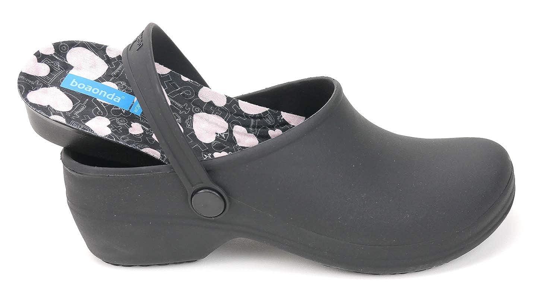 16fb722485fcc Amazon.com | Comfortable Clogs for Women - Bio Printed Insole for Healtcare  Professionals - Nursing Clogs | Mules & Clogs