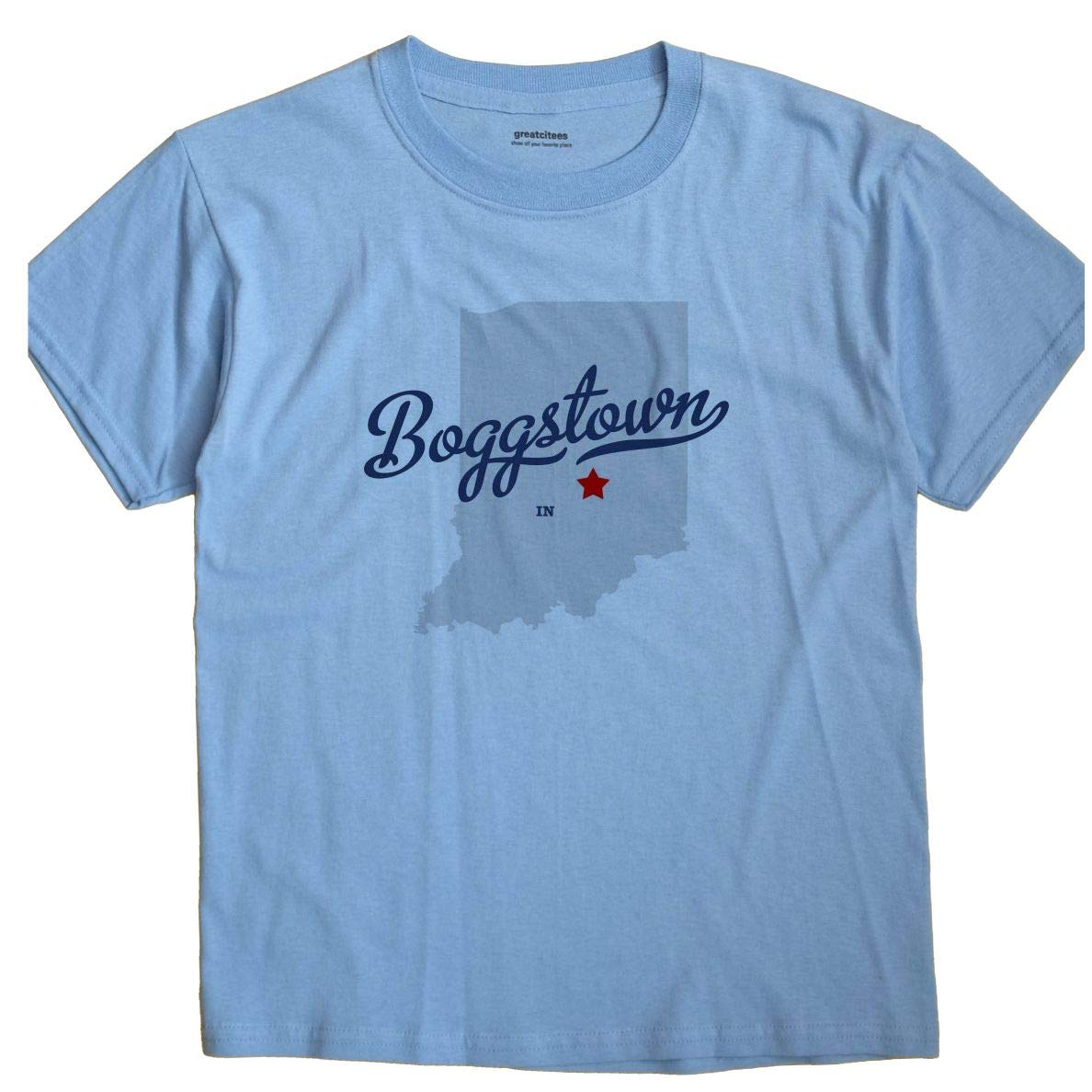 Boggstown Indiana Map.Amazon Com Greatcitees Boggstown Indiana In Map Unisex Souvenir T