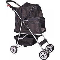 4 Wheels Pet Stroller Cat Dog Cage Stroller Travel Folding Carrier 5 Color 04T by BestPet