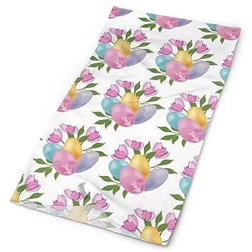 GXLLLW Flores de Color Rosa y Huevos Headwrap Unisex Multifunción ...