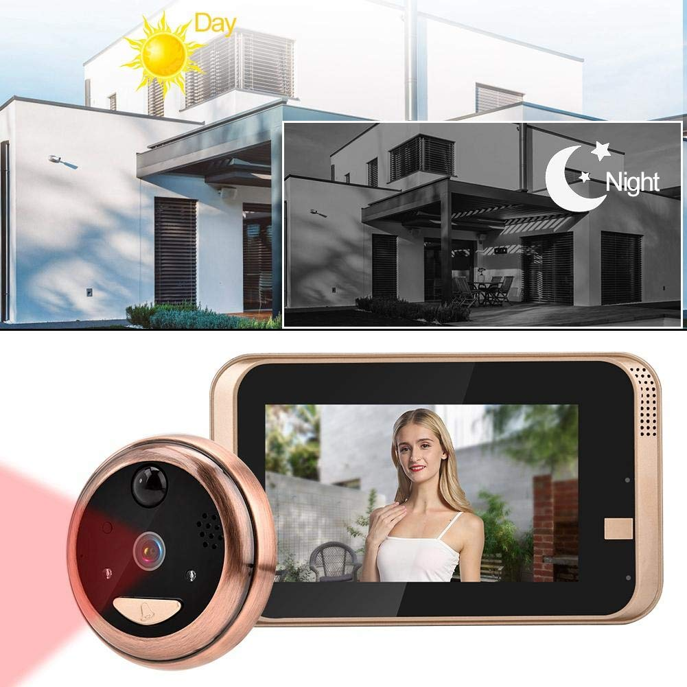 Digital Door Viewer Peephole, 4.3Inch 720P WiFi Video Doorbell Cat Eye Camera with Night Vision, PIR Motion Detection, 2-Way Audio, 166° Wide Viewing Angle, Cloud Storage, APP Control for iOS/Android by Sonew (Image #5)