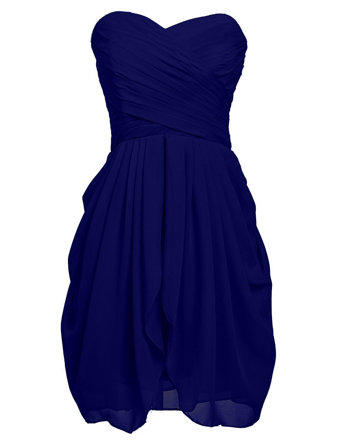 VaniaDress Women Sweetheart Ruffles Short Bridesmaid Dress Prom Gowns V201LF Royal Blue US10