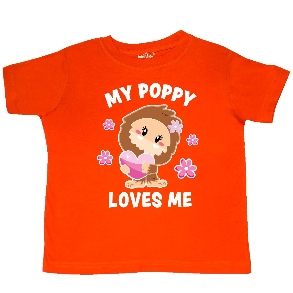 inktastic My Poppy Loves Me with Bigfoot Toddler T-Shirt
