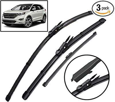 Amazon Com Xukey Front Rear Windshield Wiper Blades Set Fit For Ford Edge Mk2 Endura 2015 2016 2017 2018 2019 Set Of 3 Automotive