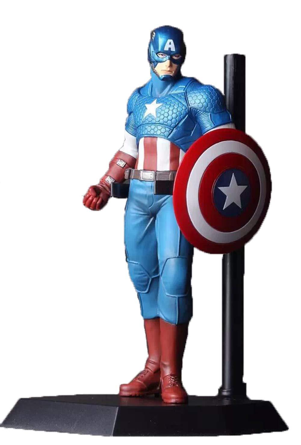 WYZBD Anime Hand Office Avenger Union Captain America Model Decoration 23cm