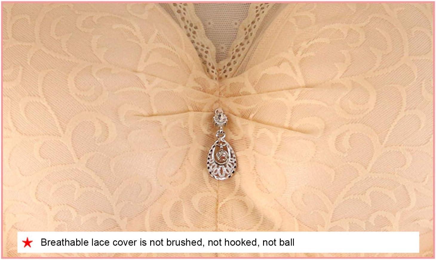Postoperatoria Protesi seno Lace Bra Vest-Style confortevole Gathering senza anello in acciaio Underwear,75A