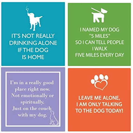 Amazoncom Fakkos Design Dog Cocktail Napkins Funny Quotes Variety