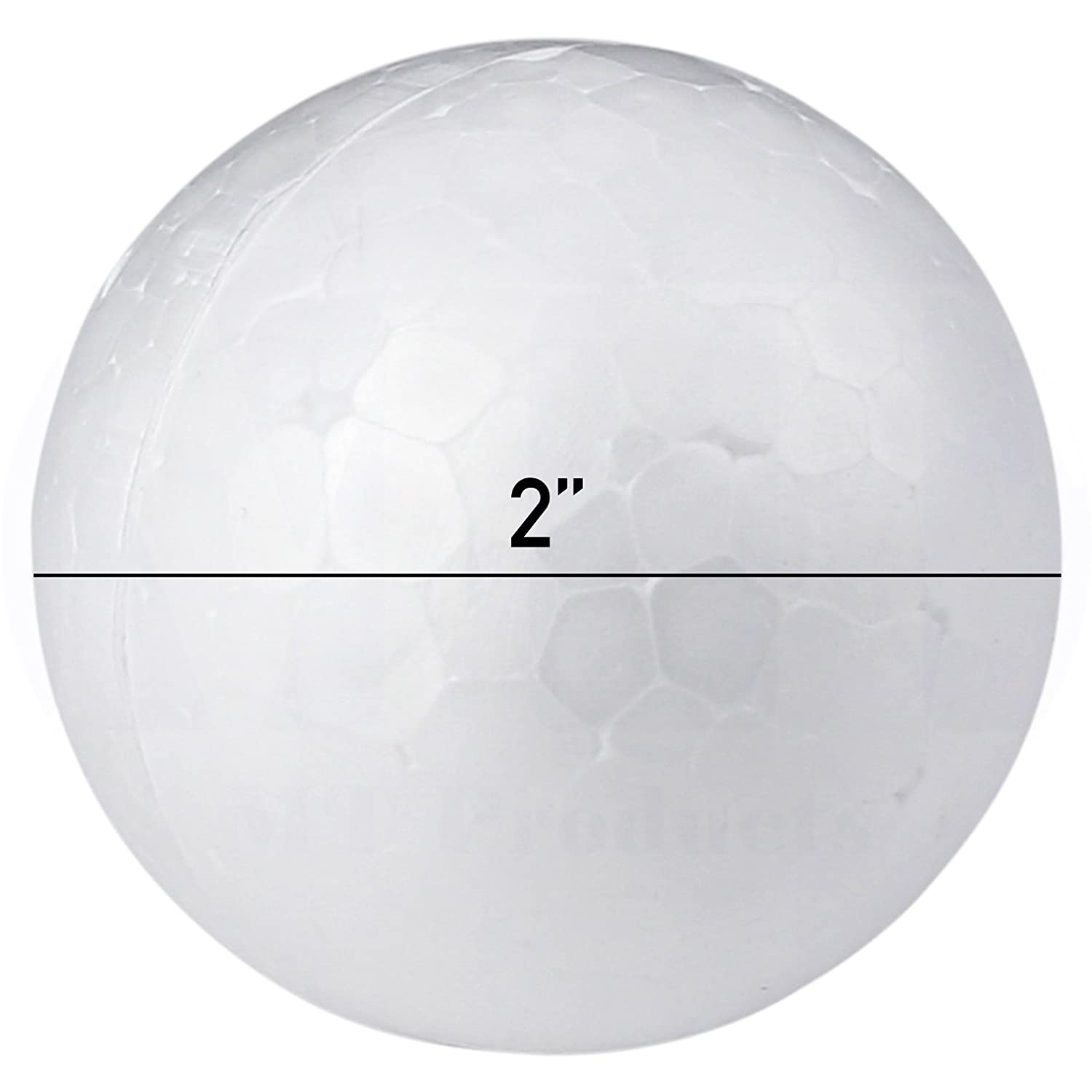Smooth White Craft Foam Polystyrene Round Balls by MT Products (1 Inch) (100 Pieces)