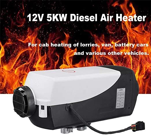 RUNMIND 24V 8KW Air Diesel Heater Vehicle Set LCD Thermostat Single Hole Fast Heating Fan Heater For Truck Boat Car Trailer Caravans