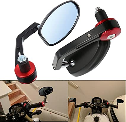 4 Colors Adjustable Bike Bicycle Handlebar Bar End Rear View Plastic Glass