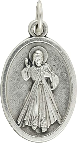 Italian Oxidized Silver. Divne Mercy of Jesus /& Blessed Faustina 100 Piece Pack Patron Saints Medals