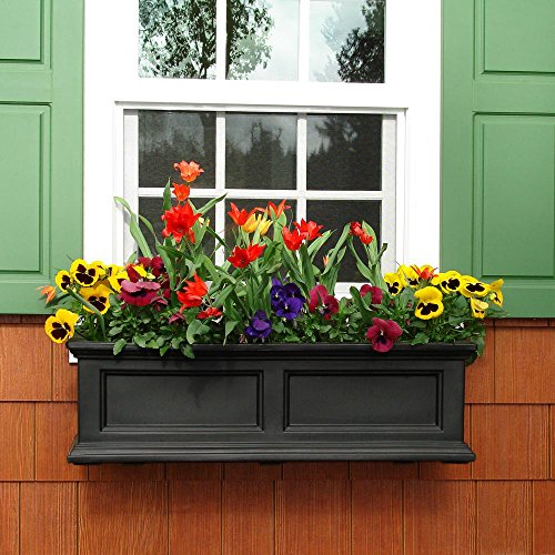 Mayne Fairfield 5822B Window Box Planter, 3-Foot, Black