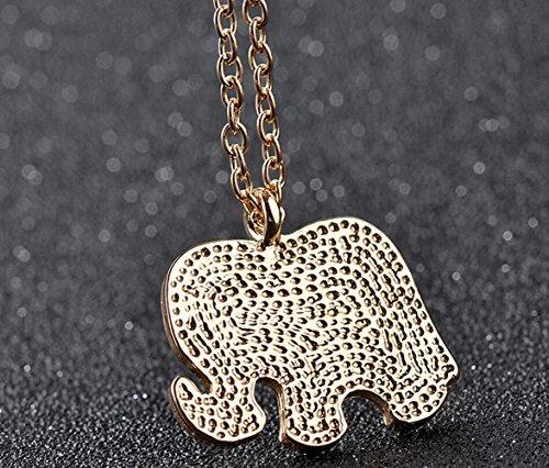 Gudeke Femmes Hommes d'éléphant animal Série Colliers Pendentifs avec 70cm Chain