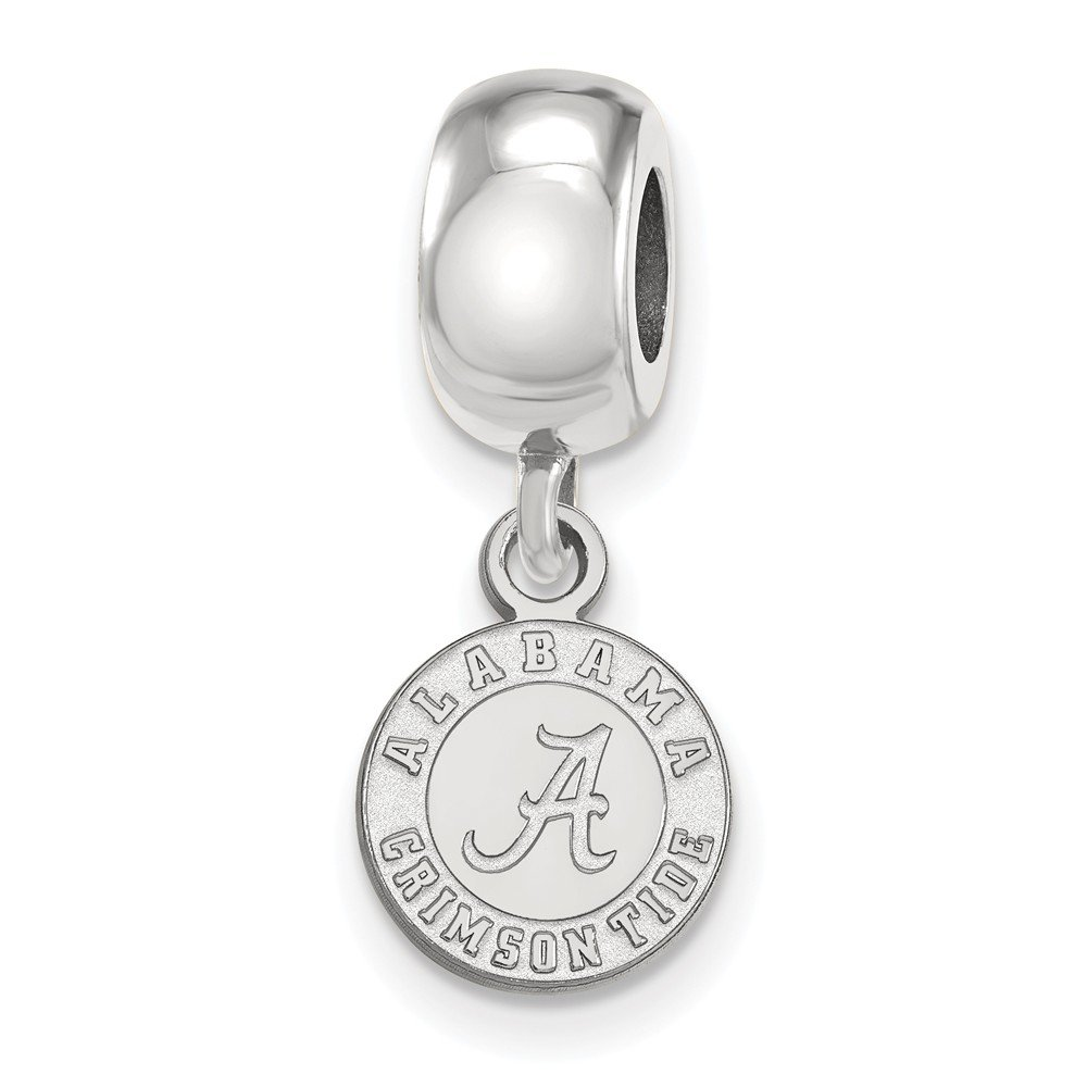 9mm x 22mm Jewel Tie 925 Sterling Silver University of Alabama Extra Small Dangle Bead Charm Very Small Pendant Charm