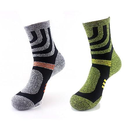 2 pares de calcetines que absorben la humedad, unisex, transpirables y l.