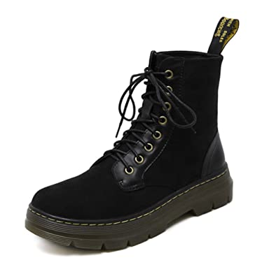 Womens Round-Toe Light-Weight Lace-Up Suede Boots