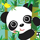 """Diy oil painting, paint by number kits for kids - Baby Panda 8""""x8"""" (Framed Canvas)"""