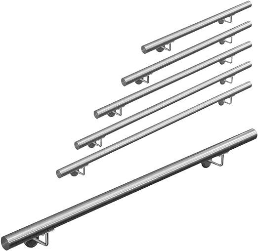 Garde-Corps d/'Escalier Acier Inoxydable 100 cm Appui main courante rampe escalier