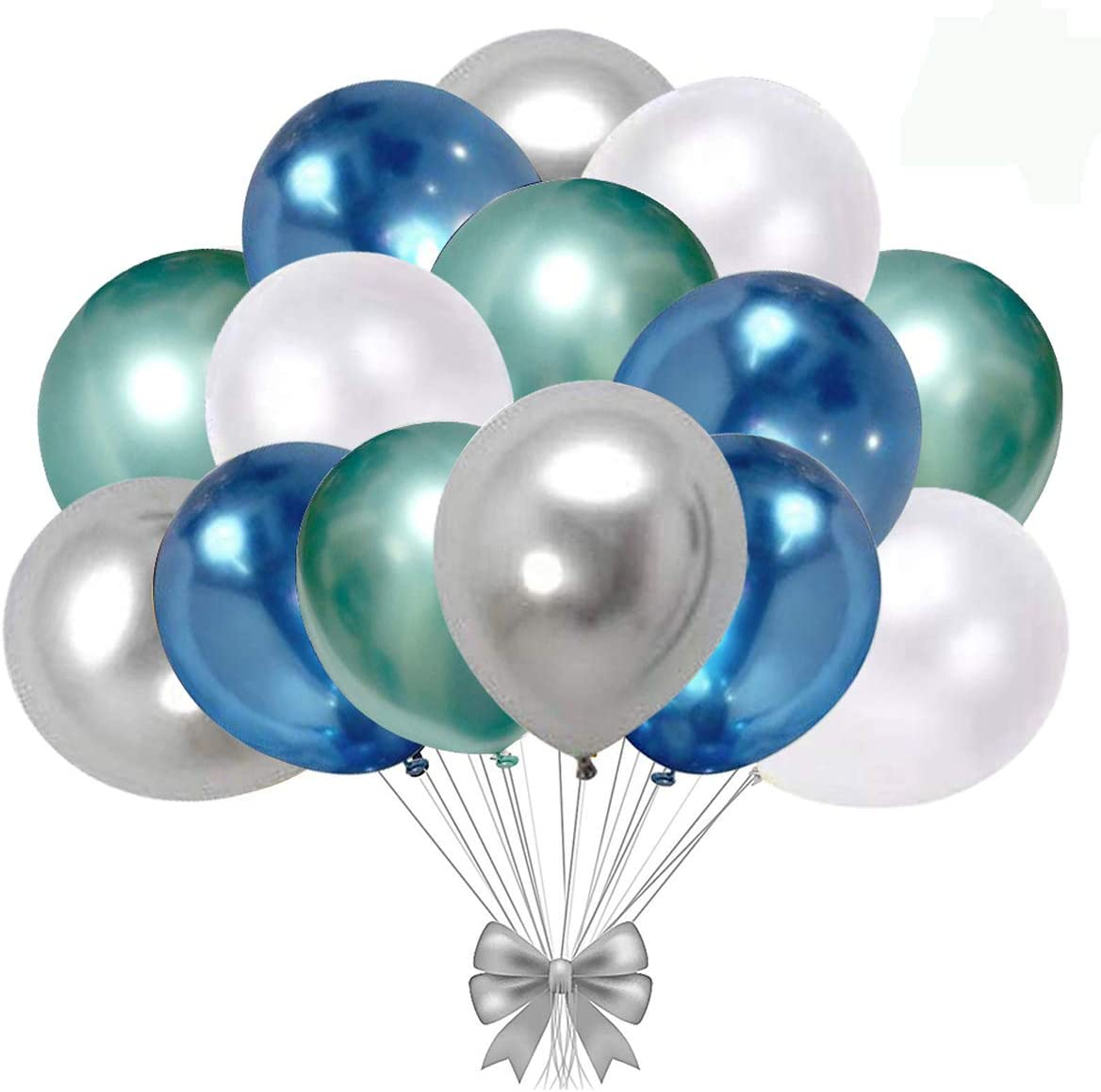 """12/"""" INCH Metallic CHROME  BALLON Quality Party Birthday Wedding AND DACORATIONS"""