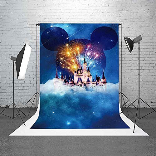 Meets 5x7ft Disneyland Backdrop White Building Mickey Mouse Avatar