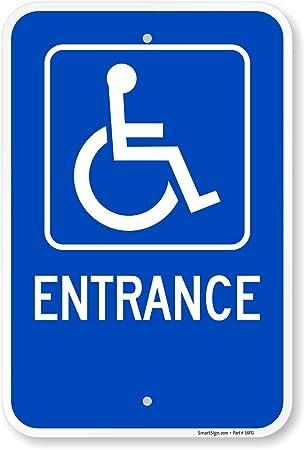 Amazon.com: Entrada (Símbolo de discapacitados) señal, 18