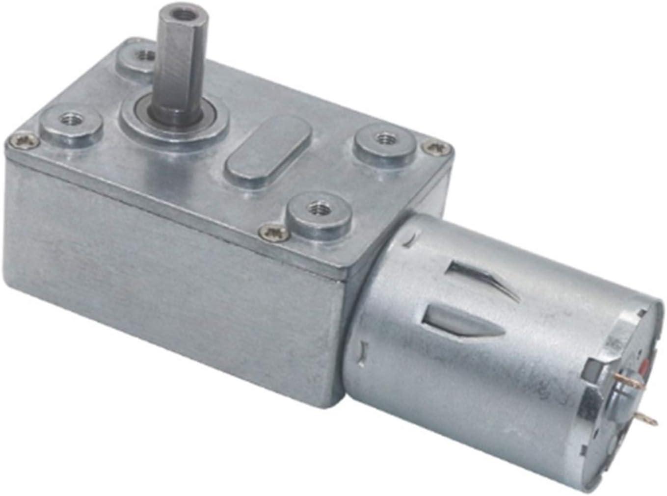 Micro Motor de reducción, DC 6 V 12V 24V Torque Alto Motor de Metal JGY-370 Motor de Engranaje Autoprocalante Tornillo de Enredadera Turbina para Modelo de Juguete de Motor de Bricolaje