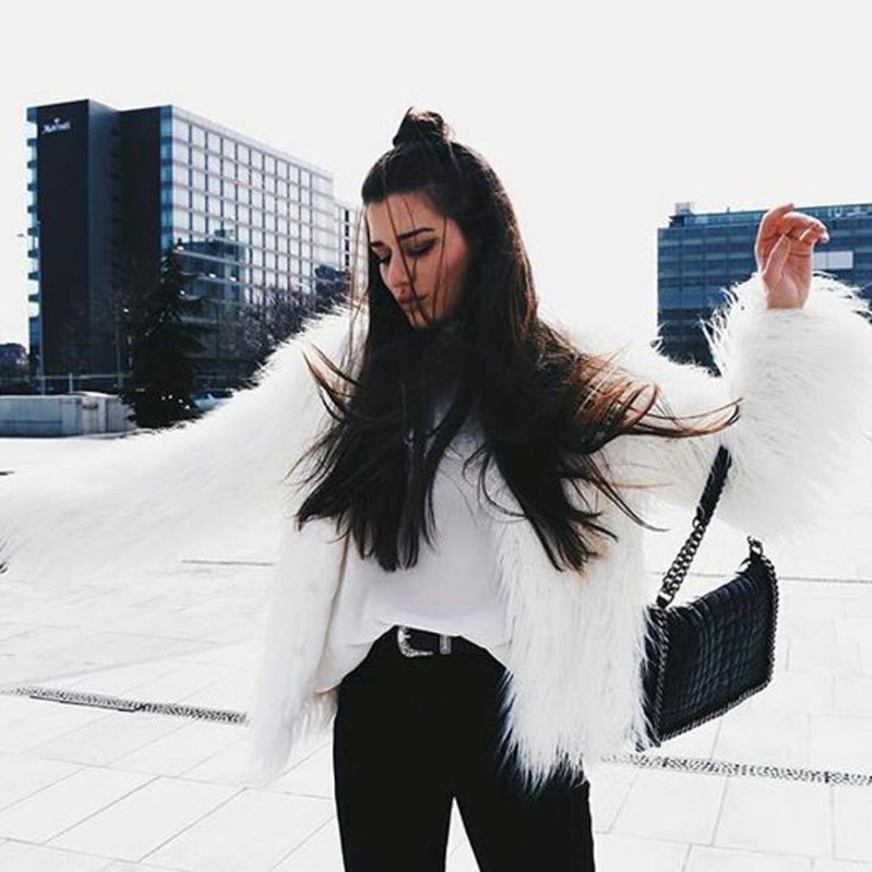 Tongshi Nuevas Mujeres de Las se/ñoras Caliente de Piel sint/ética de Fox Chaqueta de la Capa del Invierno Parka Prendas de Abrigo