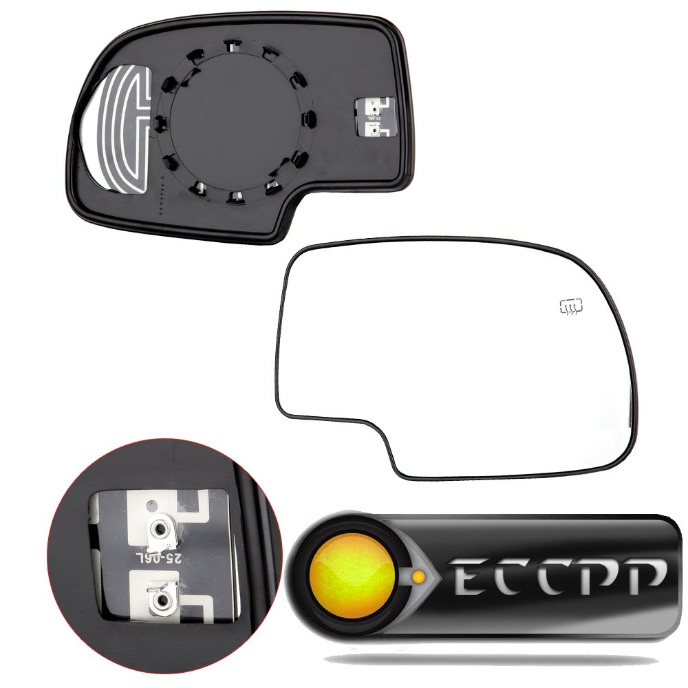 ECCPP Mirror Glass Power Heated Driver & Passenger Side(A Pair) Replacement fit for Chevy Avalanche Suburban Silverado Tahoe GMC Sierra Hybrid Classic Yukon by ECCPP