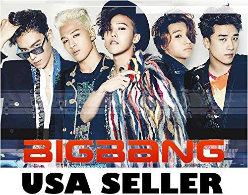 Bigbang velocity-effect Poster Korean boy band Big Bang Top G-Dragon Tae Yang T.O.P. Taeyang
