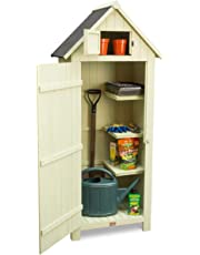 Christow Slimline Garden Shed, Outdoor Tool Storage, Compact Utility Sentry with Lockable Door and Roof Hatch
