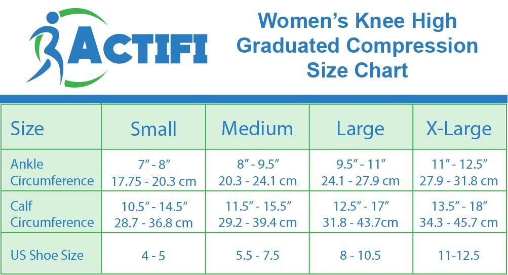 Actifi Women's Sheer 15-20 mmHg Closed Toe Knee High Compression Stockings by Actifi (Image #4)