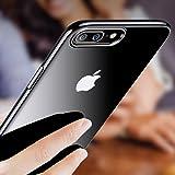 iPhone 7 Plus Custodia, Orlegol Bumper Caso Trasparente Crystal Silicone Gel Cover, Shock-Absorption Bumper Cover e Anti-Graffio Trasparente per Apple iPhone 7 Plus - Jet Black