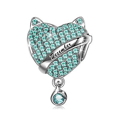 più amato a0fc3 58675 NinaQueen® Argento Charms Pietre di Nascita con Confezione Regalo, Buon  Natale!