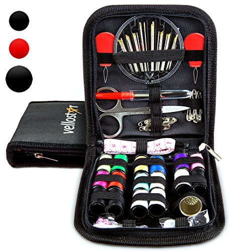 SEWING KIT for Sewing Repairs at Home & in the Office. Portable & Complete Mini Sew Kit for Travel Trips Filled with Mending Supplies and Accessories. Beginner DIY Kit for (New Years Art Projects)