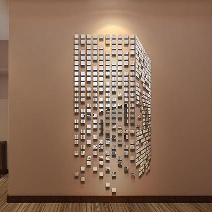290PCS DIY specchi da parete adesivi Home & Office, decorazione per ...