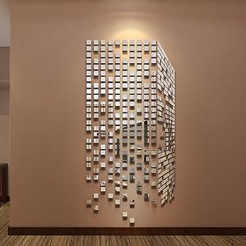 290pcs DIY Spiegel Wand Aufkleber Home U0026 Office Wohnzimmer Decor Modern Art  Spiegel Wand Wandbild Dekoration