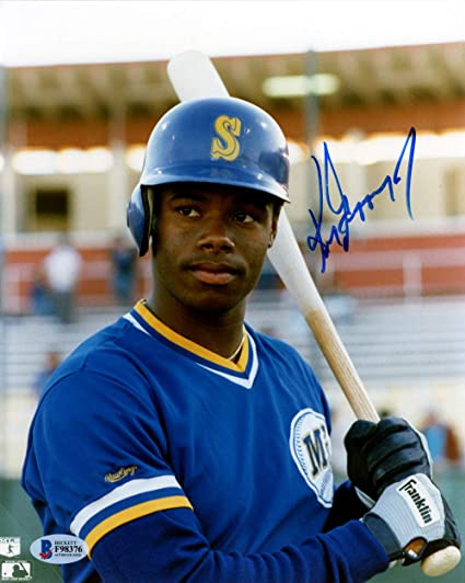 a8a19600cfd Ken Griffey Jr. Signed Auto 8x10 Photo Seattle Mariners Vintage Rookie Era  Signature - Beckett