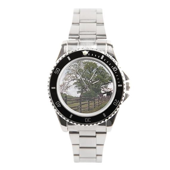 Queensland muñeca relojes camino de vida inoxidable Relojes país: Amazon.es: Relojes