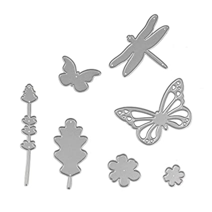 Stencil zty66, Metal mariposas y libélulas troqueles de corte/plantilla/tarjeta de papel