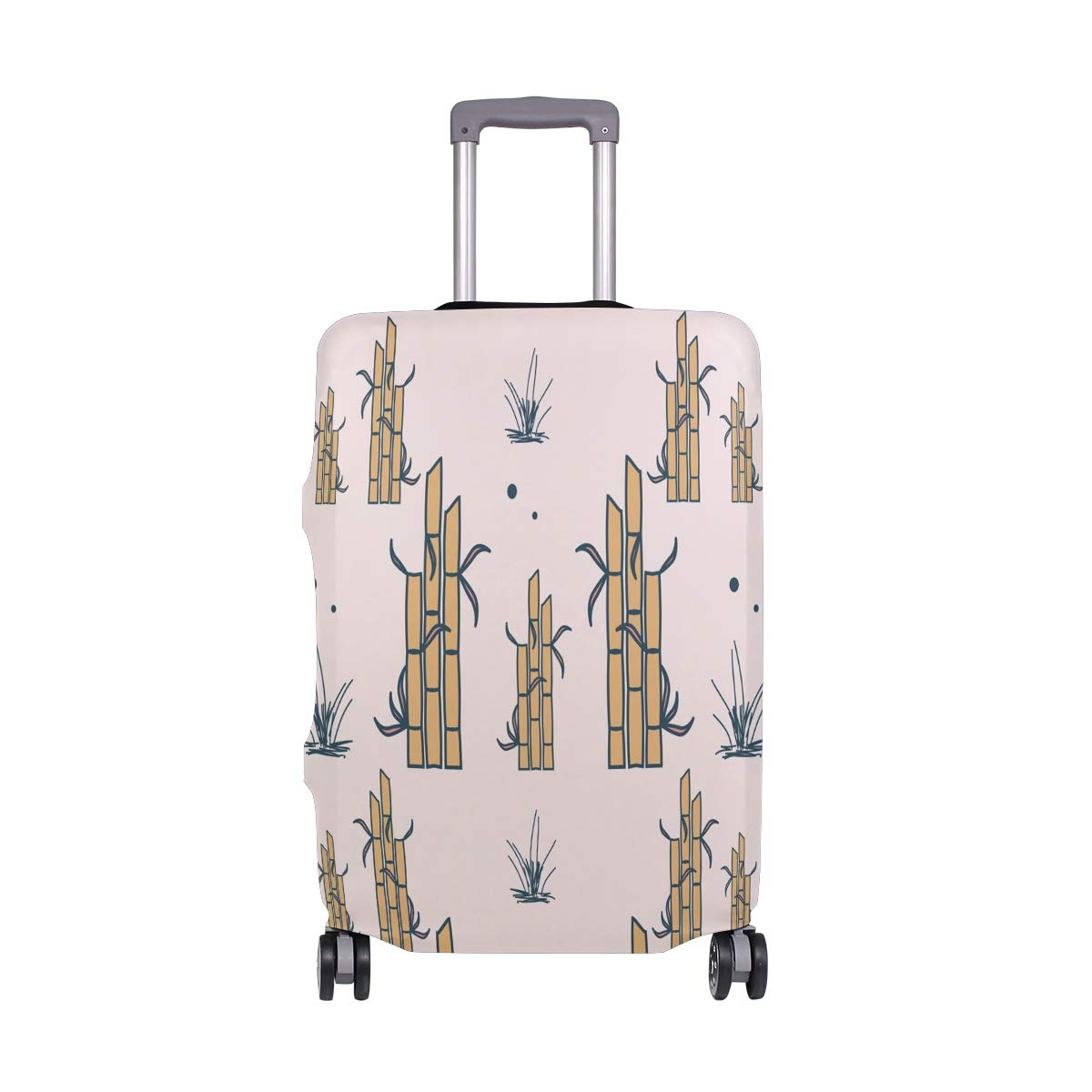 Baggage Covers Bamboo Art Design Pattern Washable Protective Case