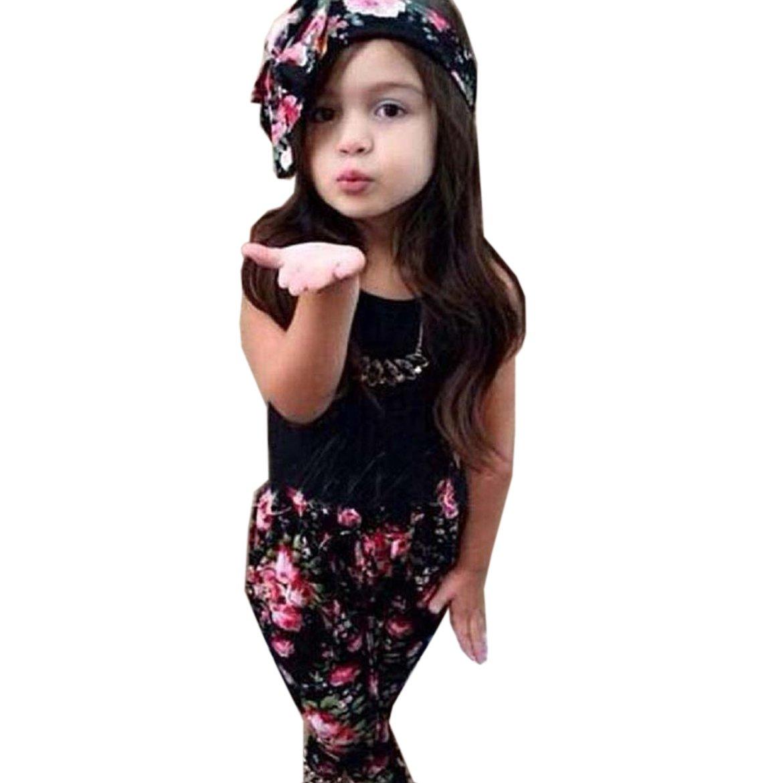 【新品、本物、当店在庫だから安心】 Yoyorule Yoyorule Girlsノースリーブブラックシャツパンツプリントスカーフ印刷Piece 110cm(3-4Y) B01ABR2V6W 110cm(3-4Y) B01ABR2V6W, 阿武町:a6a228e8 --- a0267596.xsph.ru