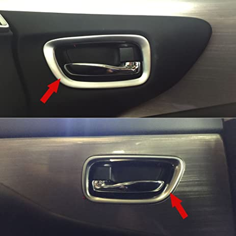 Amazon generic matte car interior door handle bowl cover trim generic matte car interior door handle bowl cover trim fit for nissan murano 2015 2016 2017 planetlyrics Images