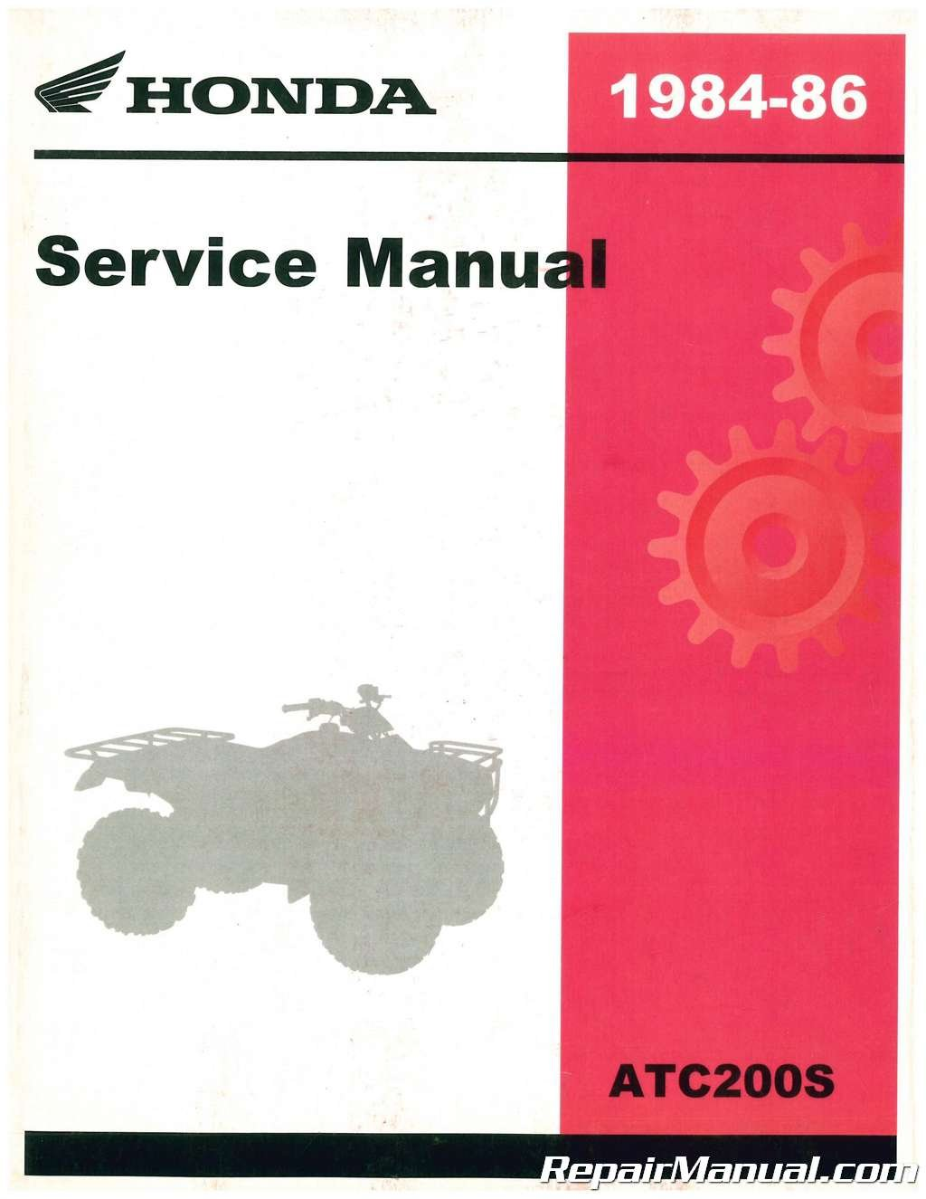 61VM402 1984-1986 Honda ATC200S Service Manual: Manufacturer: Amazon.com:  Books