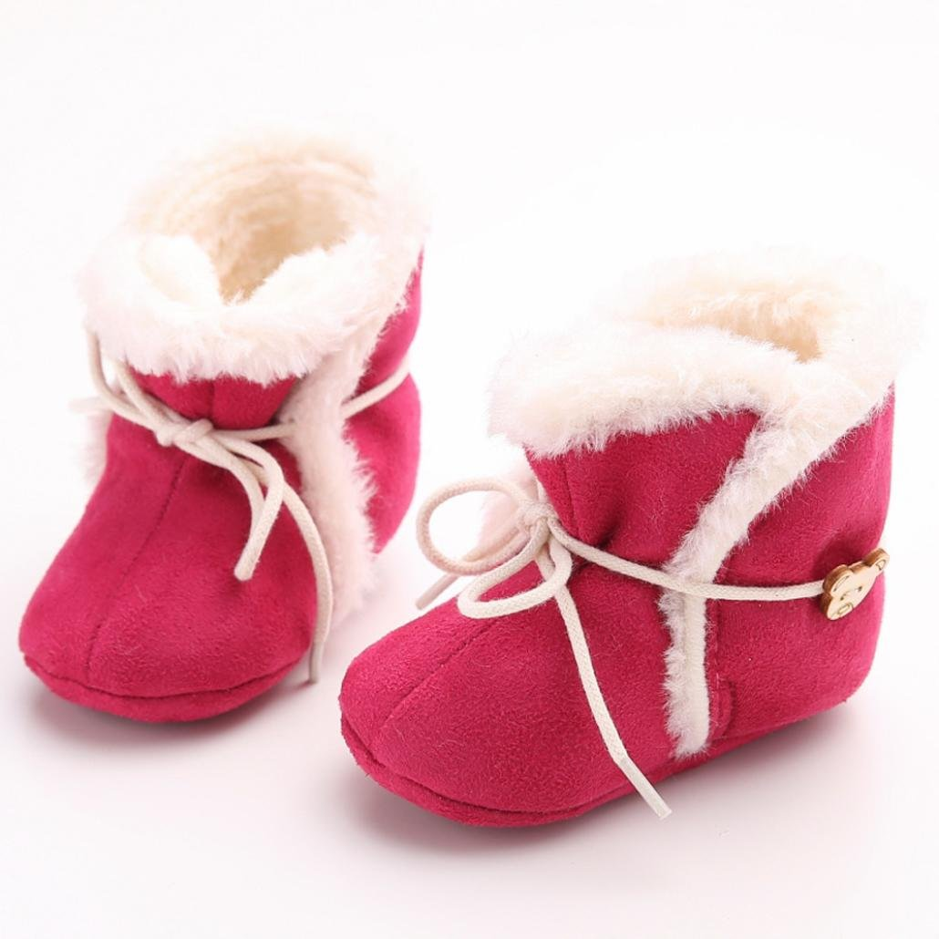Egmy Baby Shoes Winter Baby Soft Sole Snow Boots Soft Crib Shoes Toddler Boot