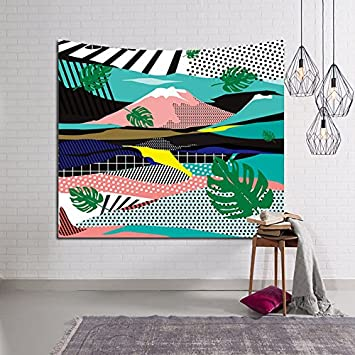 Dorm 59x51 Banana Leaf Tapestry Wall Hanging Tropical Leaves Wall Tapestry Living Room Bohemian Nature Wall Hanging Wall Art Home Decor for Bedroom